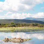 Cancha de Futbol cercana al Rio Rocha inundada (Foto de Leny Olivera)