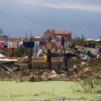 Vista posterior de la casa derrumbada de María Arroyo (Foto de Leny Olivera)