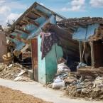 Casa derrumbada de María Arroyo, vecina del Barrio Providencia, Sur de Quillacollo (Foto de Leny Olivera)