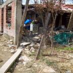 Casa destruida por el agua y abandonada por sus habitantes, Barrio Providencia (Leny Olivera)