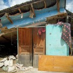 Casa derrumbada de María Arroyo (Foto de Leny Olivera)